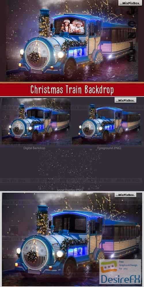 Christmas Train Backdrop - 5814955