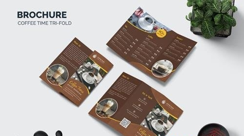 Coffee Time Trifold Brochure