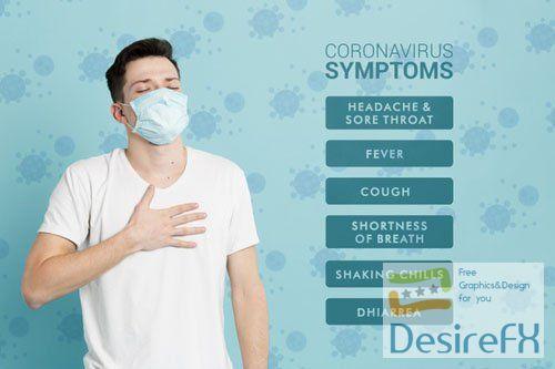 Coronavirus Prevention Symptoms PSD Template