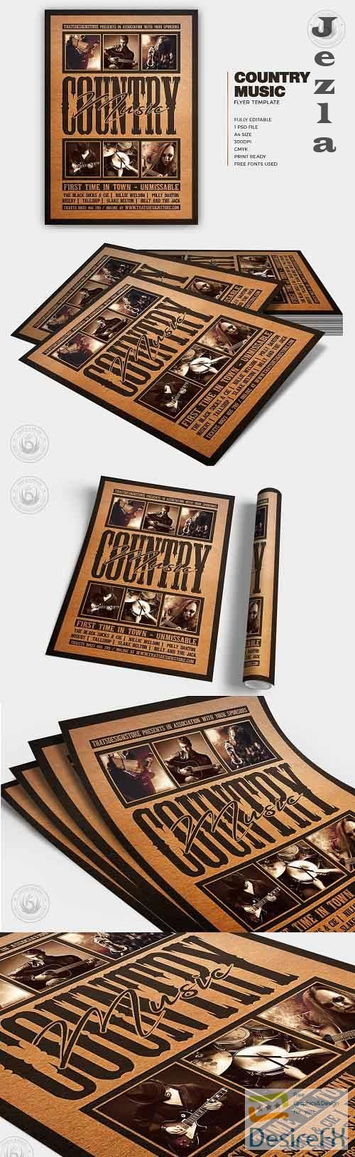 Country Music Flyer Template V4 - 5758525