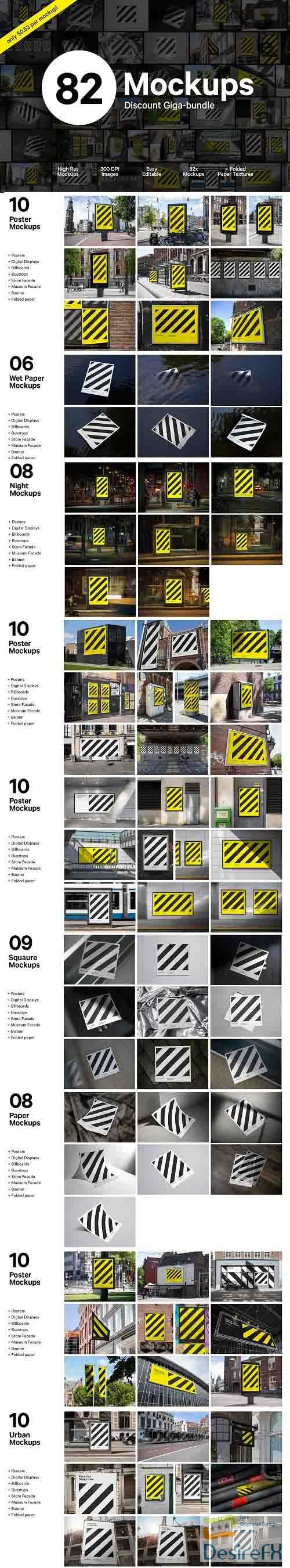 CreativeMarket - Giga Poster Mockup Bundle 5347321