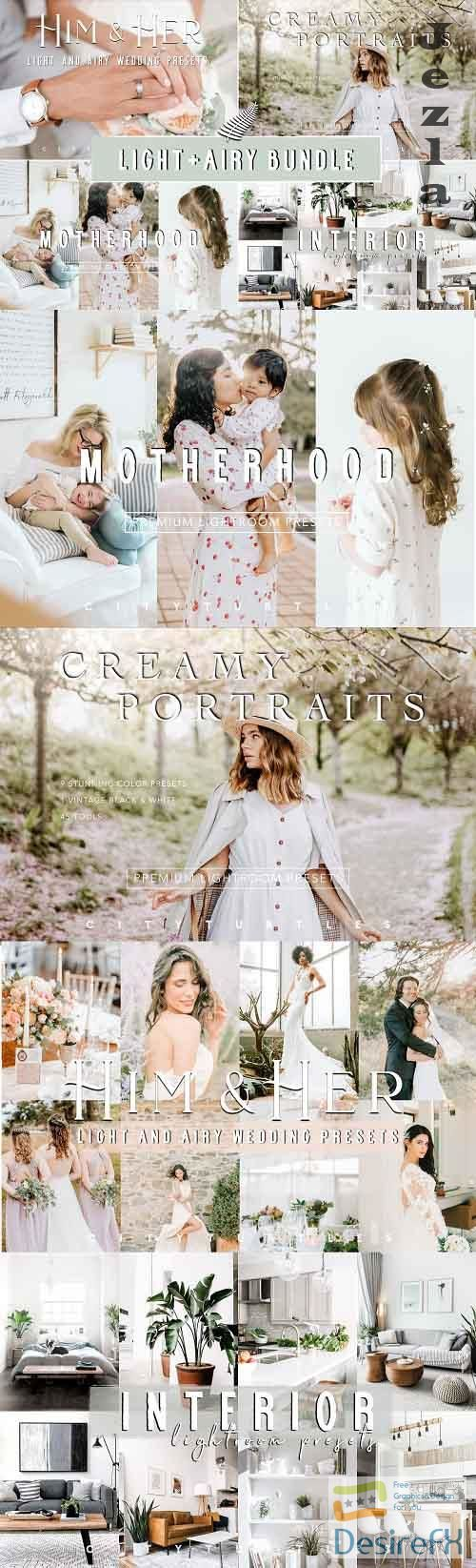 CreativeMarket - LIGHT + AIRY Lightroom Preset Bundle 5194907