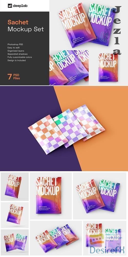 CreativeMarket - Sachet Mockup Set 5783281