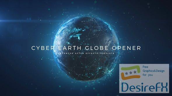 Videohive Cyber Earth Globe Opener 29647647