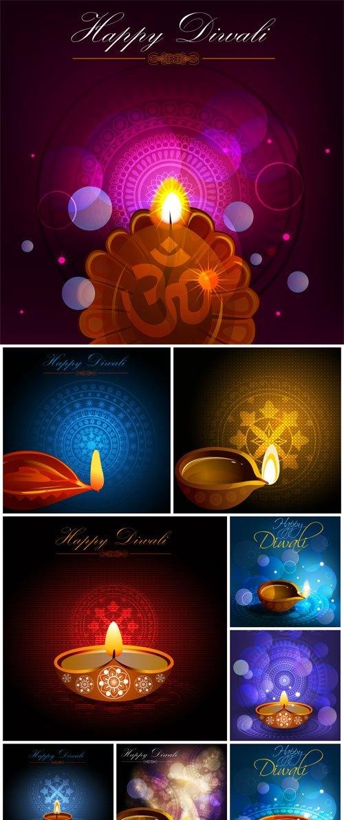 Diwali colorful vector illustration