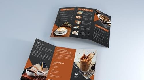 Drink Coffee Trifold Brochure