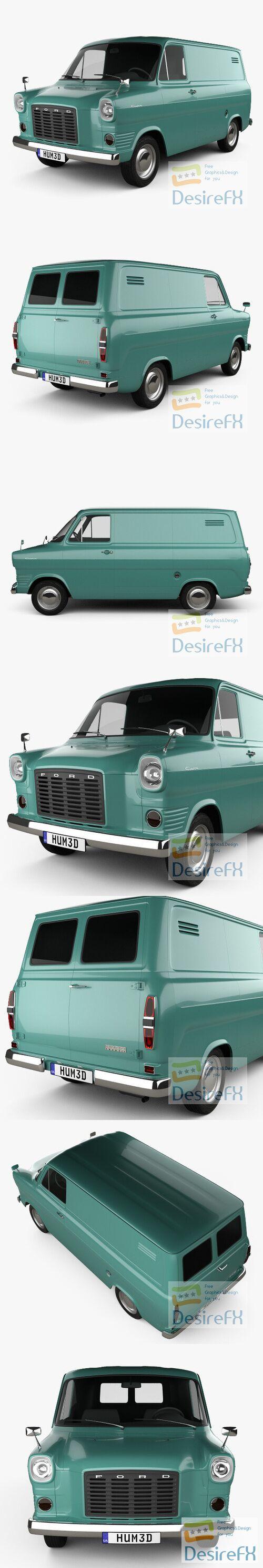 Ford Transit Panel Van 1965 3D Model