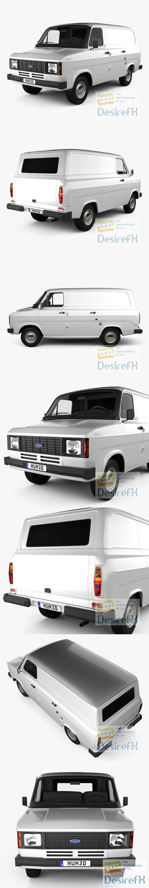 Ford Transit Panel Van 1978 3D Model
