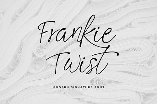 Frankie Twist Signature Font