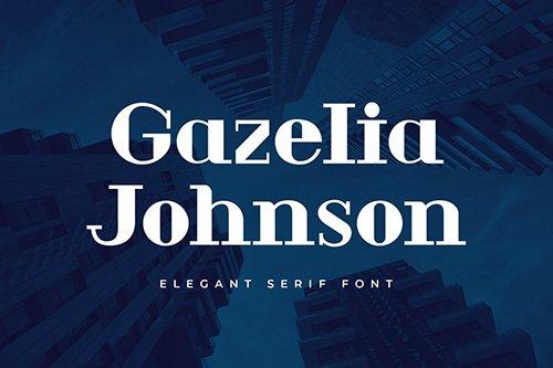 Gazelia Johnson Serif Display Font