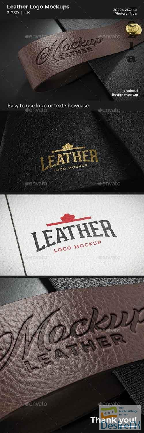 GraphicRiver - Leather Logo Mockups 29703619