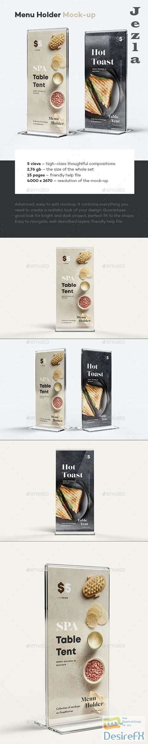 GraphicRiver - Menu Holder Mock-up 29894381