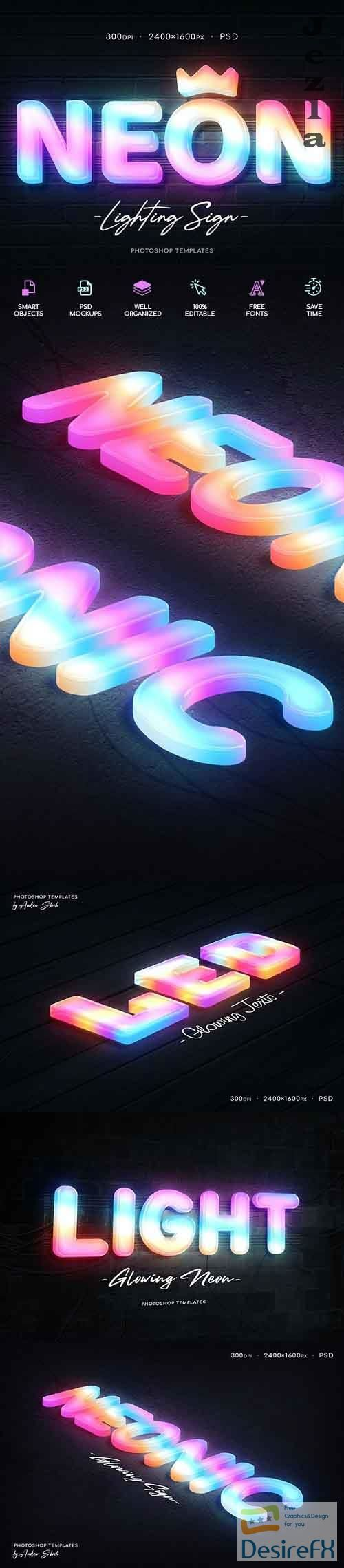 GraphicRiver - Neon Wall Sign Creator 29931299