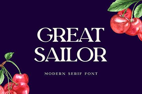 Great Sailor Serif Display Font