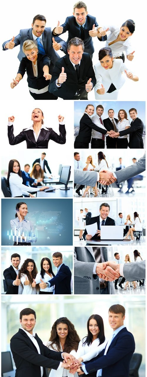 Group of business people, business concept stock photo