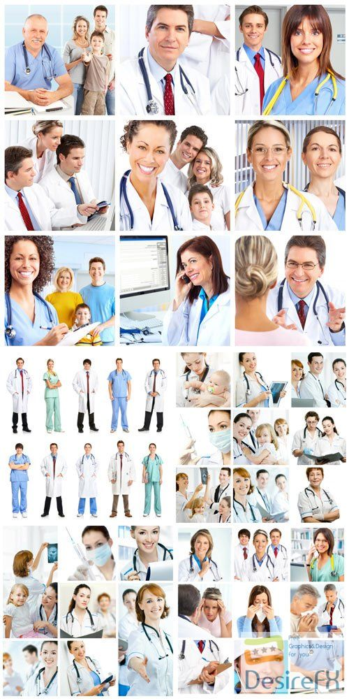 Group of doctors, medics stock photo