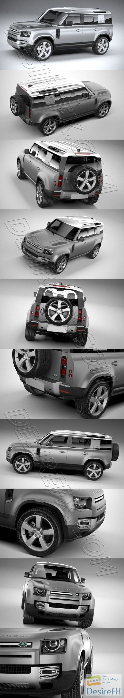 Land Rover Defender 110 2020 3D Model