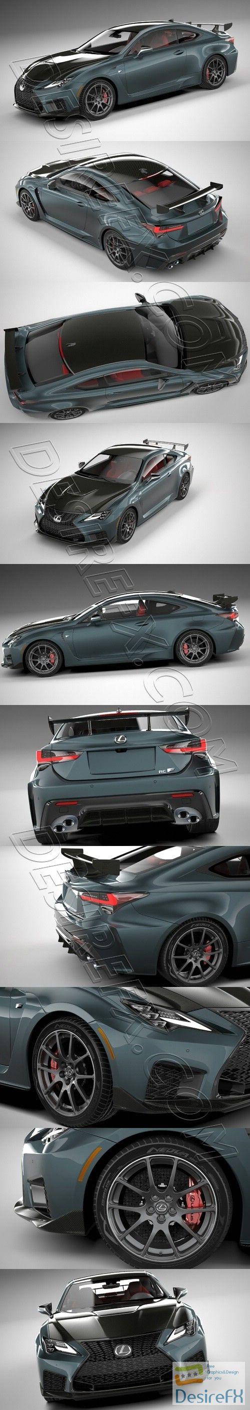 Lexus RC-F Track Edition 2020 3D Model