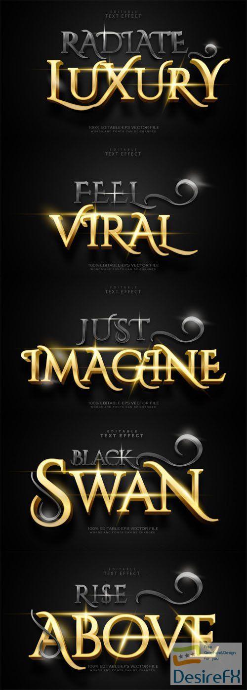 Luxury Black & Gold Editable Vector Text Effect