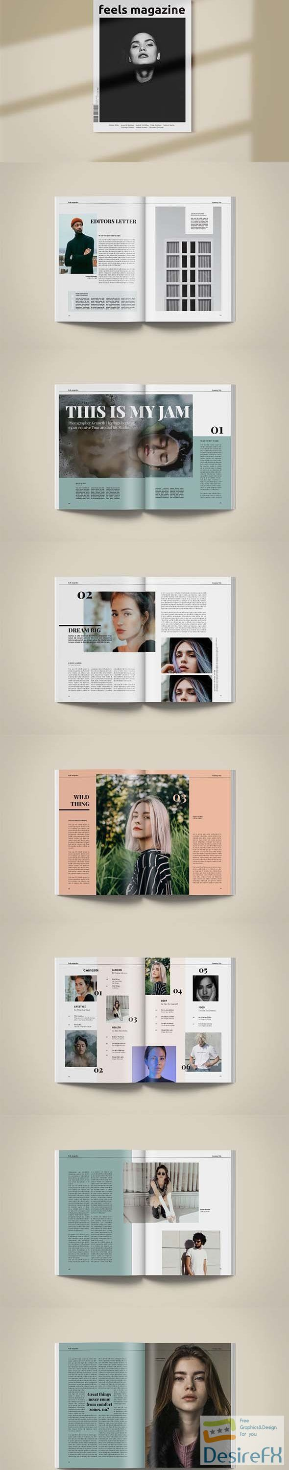 Magazine Template | Feels