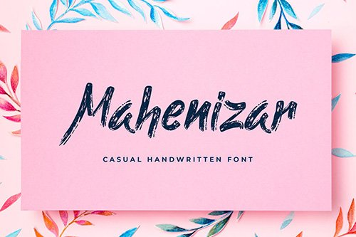 Mahenizar Brush Handwritten Font