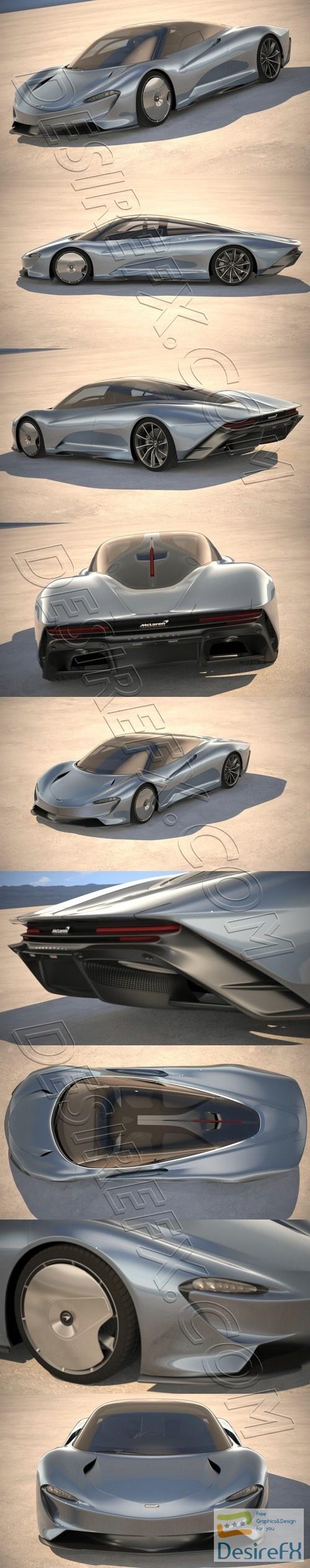 McLaren Speedtail 2020 3D Model