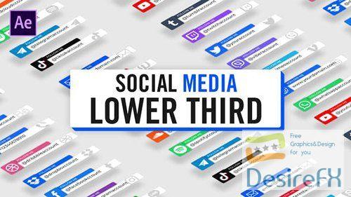Modern Social Media Lower Thirds 30124497
