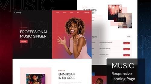 Music Responsive Landing Page