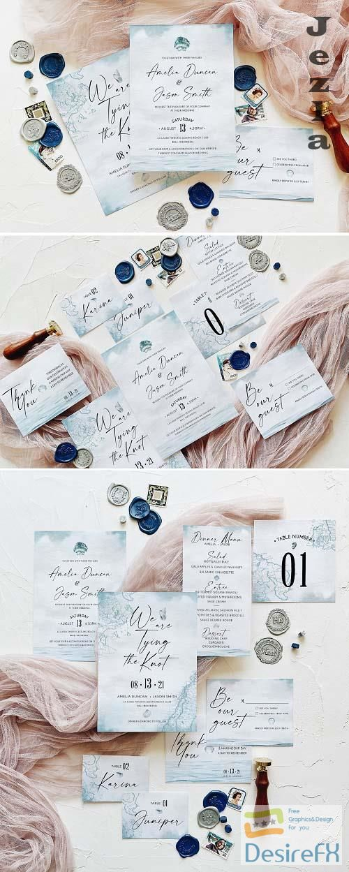 Nautical Wedding Invitation Suite - 5758434