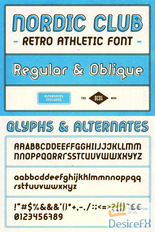 Nordic Club - Retro Athletic Sans Serif Font 2-Weights