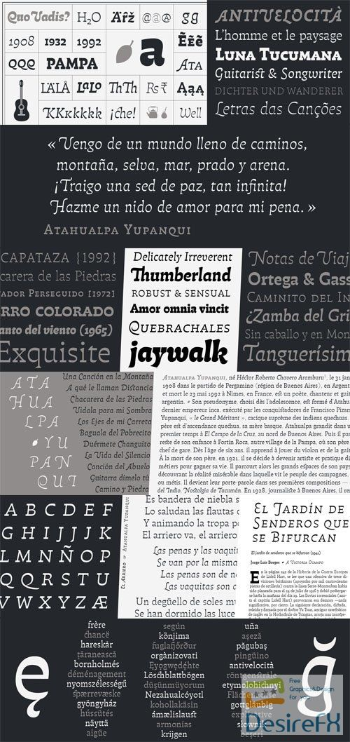 Pampatype Foundry - Atahualpa Font Family 12-Weights