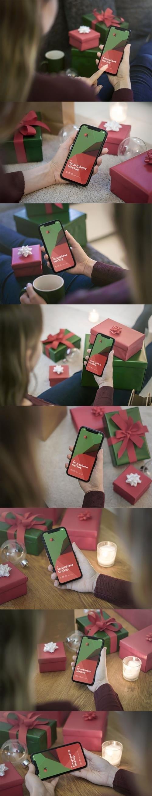 Phone Mockup Christmas Scenes