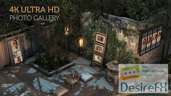 Videohive Photo Gallery in a Garden at Night 29946945