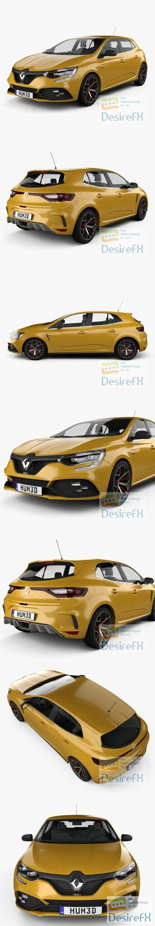 Renault Megane RS Trophy 300 hatchback 2018 3D Model