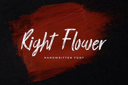 Right Flower Brush Handwritten Font