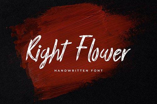 Right Flower Brush Handwritten Font