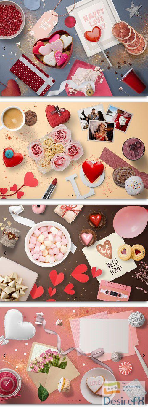 Romantic Styled Love Scene Creator - PSD Templates 60-Elements/4-Scenes