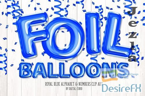 Royal Blue Balloon Alphabet - 5760791