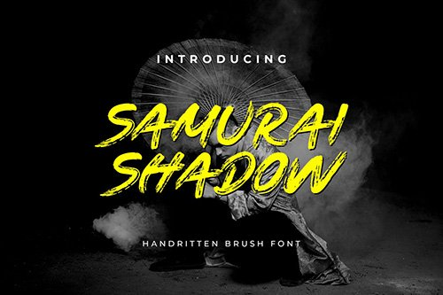 Samurai Shadow Brush Handwritten Font