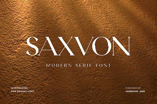 Saxvon Serif Display Font