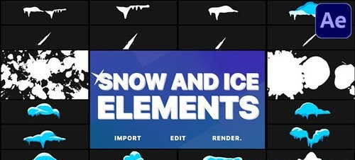 Snow And Ice Elements | After Effects 29779680
