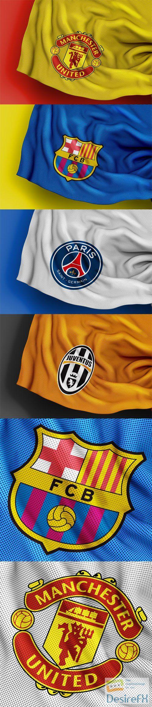 Sport Jersey Texture Logo PSD Mockups Templates