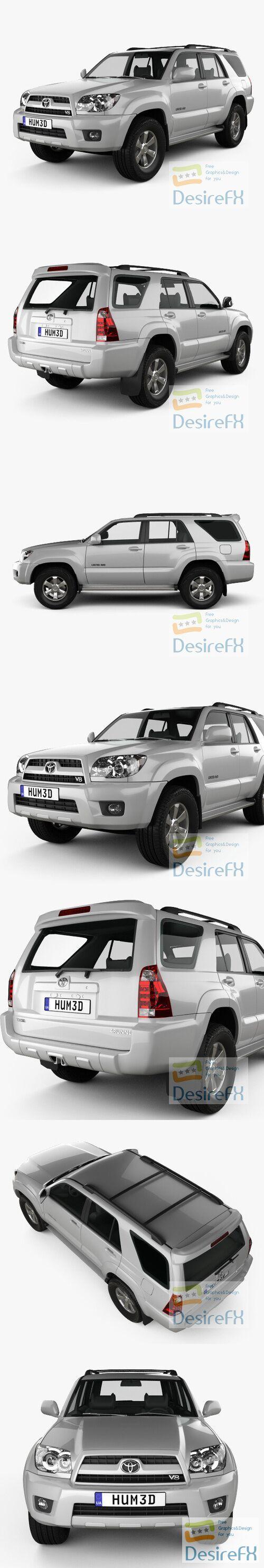 Toyota 4Runner 2005 3D Model