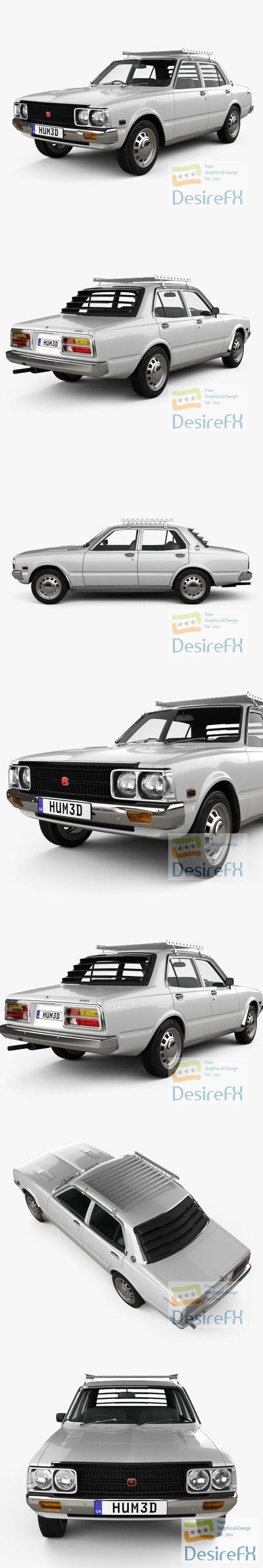 Toyota Corona sedan 1975 3D Model