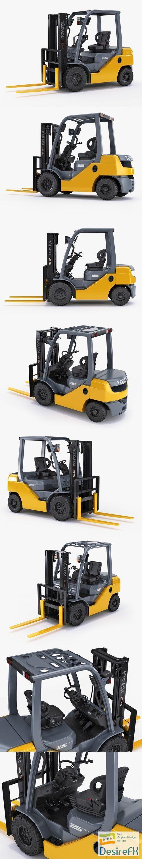 Toyota forklift 8FD25 3D Model