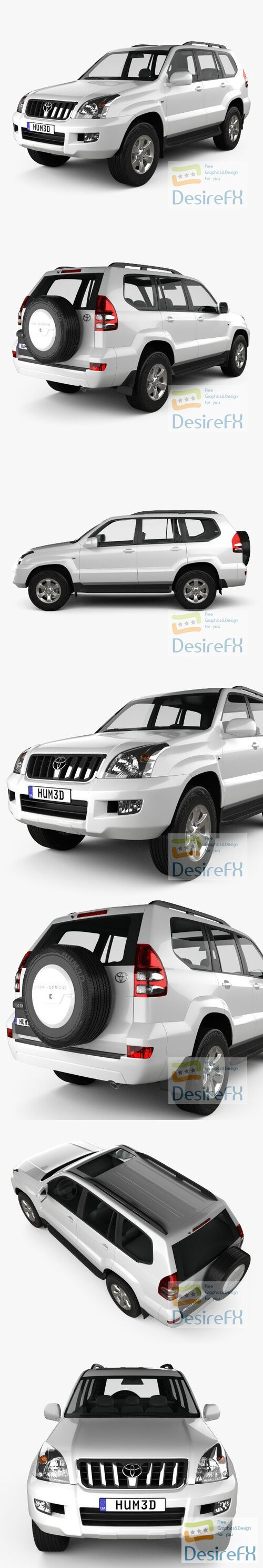 Toyota Land Cruiser Prado 120 5-door 2009 3D Model