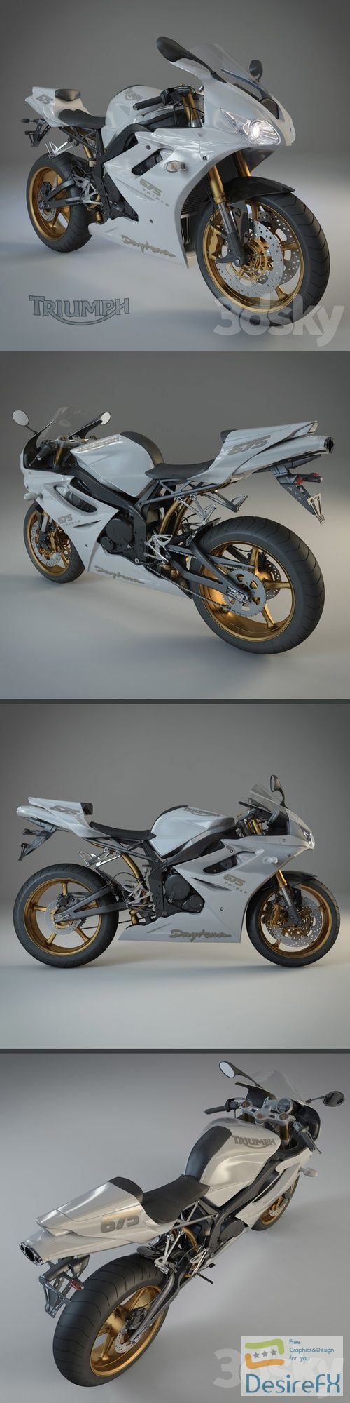 Triumph Daytona 675 SE 3D Model