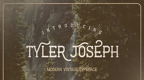 Tyler Joseph - Modern Vintage Font