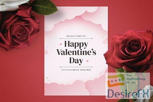 Valentine's Day Flyer Mockup Template