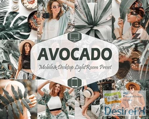 10 Avocado Mobile & Desktop Lightroom Presets